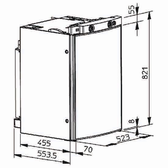 dometic rm8555 caravan fridge