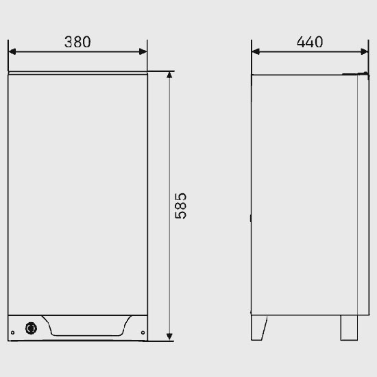 Dometic RM122 Caravan Fridge Dimensions