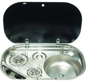 The stylish SMEV MO8322RM - 2 Burner Hob/cooker and Sink