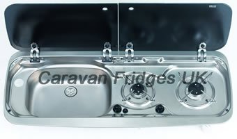 SMEV MO9222 2 Burner Cooker and Sink left hand version