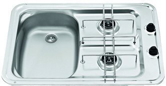 Smev MO917L caravan sink and cooker hob combination left hand version