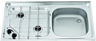 Smev MO921 caravan hob cooker and sink showing right hand version