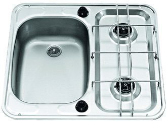 Smev MO927 Caravan sink and hob showing left hand version