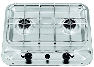 Smev PI909 2 burner cooker with piezo ignition and safety system
