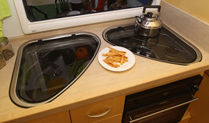 Spinflo motorhome and caravan Kitchen hobs