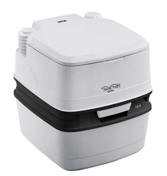 Thetford Porta Potti Qube 165 compact portable toilet (lid closed)