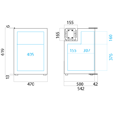 C90i fridge dimensions