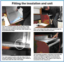 Vitrifrigo compressor fridge fitting insulation