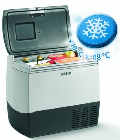 The Waeco CDF-18 compressor Cool Box has a temperature range of +10°C > -18°C