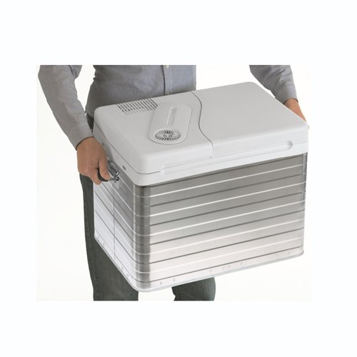 Dometic Waeco Q40 portable Cool Box with sturdy carry handles.