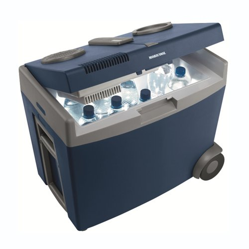 The Waeco W35 camping coolbox contains food and drink up to 35 litres of total capacity.